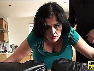 Mature sub assfucked until..