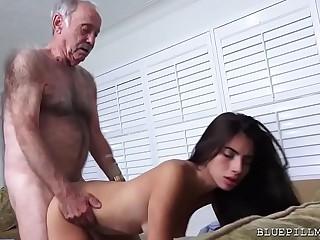 Latina Teen Fucks Old Man..