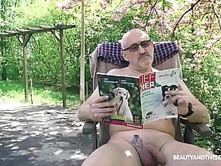 Horny Teenie gets grandpa..
