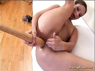 flexible anal self fisting..