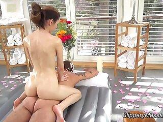 slippery nuru massage with..