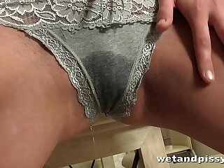 Teen Pisses All Over Her..