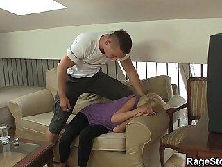 She screams as he fucks her..