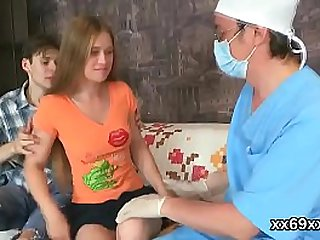 Tricky doctor fingers erotic..