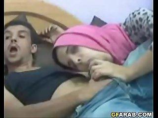 Arab Teen In Hijab Gives..