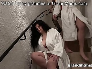 Old wife gets abused by two..