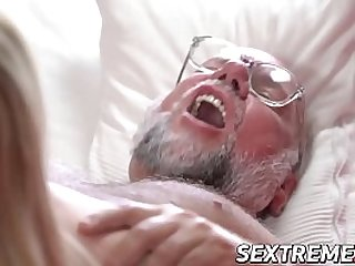 Dirty grandpa pussy drills..