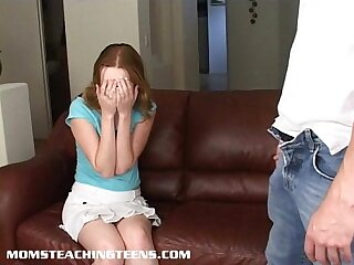 Teen Kayla is caught and..