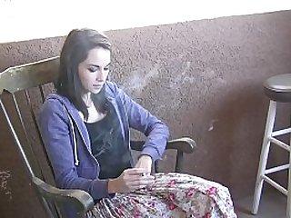 Teen pornstar and smoking..