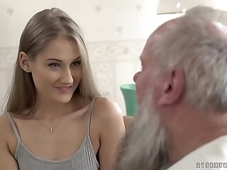 Teen beauty vs old grandpa -..