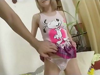Blonde Russian Teen Extreme..