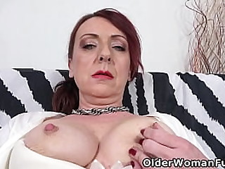 Euro mature Coco plays with..