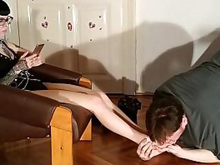 Slave servant sniffing..