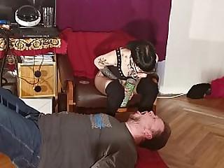 Young Mistress feeding slave..
