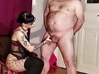 Slim gothic Mistress cbt t...